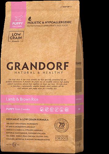 Grandorf Hondenvoeding Lam & Bruine Rijst – Pupp 1kg Alle Rassen