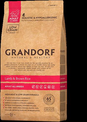 Grandorf Hondenvoeding Lam & Bruine Rijst 1kg – Adult Alle Rassen